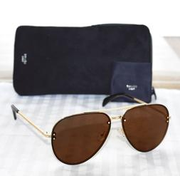 NEW CELINE CL41391S J5G/LC GOLD FRAME BROWN MIRRORED AVIATOR