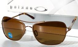 NEW* Oakley CONQUEST Aviator Squared Rose Gold POLARIZED Bro