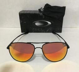 NEW OAKLEY ELMONT M 58MM SATIN BLACK RUBY IRIDIUM 4119-04 SU