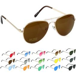 New Fashion Men's  Women's Aviator Sunglasses Metal Frame Re