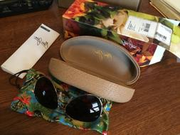 NEW MAUI JIM GOLD HS264-16 MAVERICKS AVIATOR SUNGLASSES POLA