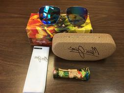 NEW IN BOX MAUI JIM SUNGLASS COOK PINES B774-17 SILVER / BLU