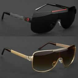 New Large Aviator Sunglasses Vintage Frame Retro Smoke Lens