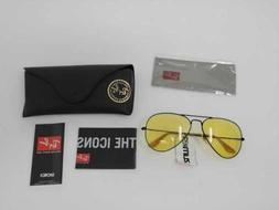 NEW MEN'S RAY BAN AVIATOR EVOLVE SUNGLASSES IN BLACK / GOLD
