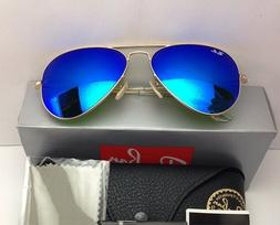 NEW Men Women Ray-Ban Sunglasses Aviator RB3025  Gold Frame
