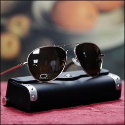 NEW MENS FASHION VTG AVIATOR SUNGLASSES COP PILOT Dark BLACK