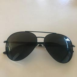 New Mens Sunglasses Aviator Black: Luenx Sun Glasses Dark Wi