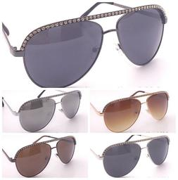 New mens Womens Rhinestones Fashion Metal Frame Aviator Sung