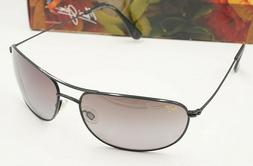 NEW MAUI JIM POLARIZED Aviator HIDEAWAYS BLACK FRAME W GRADI