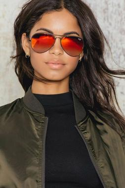 NEW RAY BAN AVIATOR RB3025 167/2K 62mm Bronze Frame Red Flas