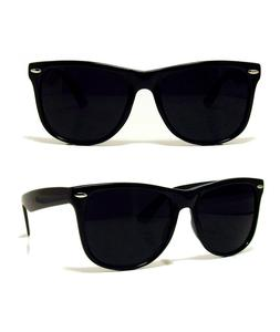 NEW RETRO AVIATOR DARK BLACK SUNGLASSES SHADES RAVE 80S VINT