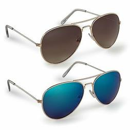 NEW Stylle Classic Aviator Sunglasses with Protective Bag, 1