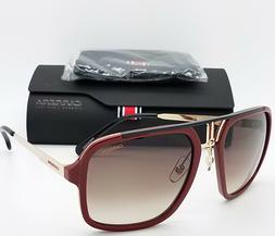 NEW Carrera sunglasses Mens Aviator 1004/S AU2 Red Brown Gra
