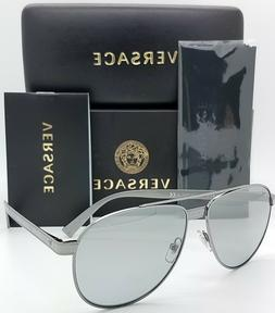 NEW Versace sunglasses VE2209 10016V 58mm Silver Mirror AUTH