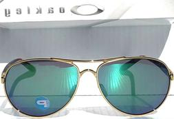 NEW* Oakley TIE BREAKER Gold AVIATOR w POLARIZED JADE Women'