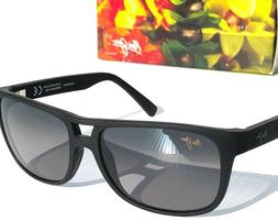 NEW* Maui Jim Waterways Black Aviator w POLARIZED Grey Lens