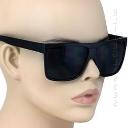 Oversized Aviator Sunglasses Flat Top Square Vintage Retro F