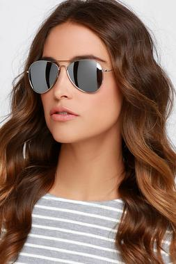 Pilot Aviator Sunglasses Full Silver Mirror Eyewear Metal Fr