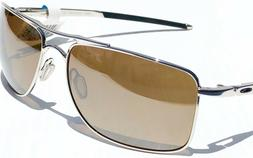 OAKLEY POLARIZED GAUGE 8 M MEDIUM AVIATOR OO4124-05 Chrome /