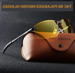 Polarized HD+ Night Vision Glasses Driving Aviator Sunglasse