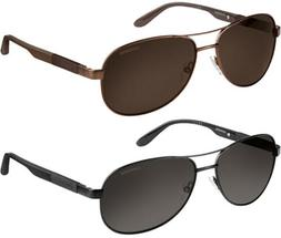 Carrera Polarized Men's Memory Metal Aviator Sunglasses - 80