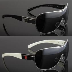 POLARIZED Retro Shield LARGE Men Fashion Metal Aviator Desig