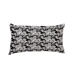 Polyester Car Neck Pillow,Doodle,Crowded Street Sunglasses o