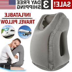 Portable Inflatable Travel Pillow Train Air Bus Face Neck He