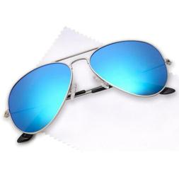 JETPAL Premium Classic Aviator UV400 Sunglasses w Flash Mirr