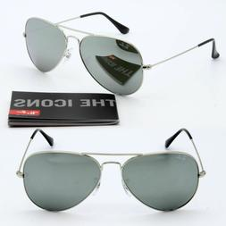 Ray-ban aviator sunglasses for men for women silver mirrored