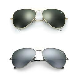 ray ban aviator sunglasses gold frame black
