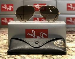 Ray-Ban Aviator Sunglasses RB3025 001/51 58mm Gold/Light Bro