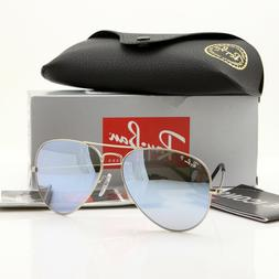 Ray Ban Aviator Sunglasses RB3025 019/W3 Silve Frame Polariz