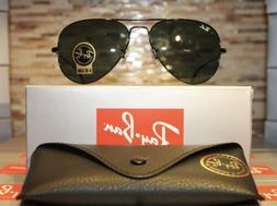 Ray-Ban Aviator Sunglasses RB3025 L2823 58mm Black Frame/G-1