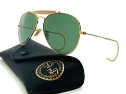 Ray-Ban Aviator Sunglasses RB3030 Outdoorsman L0216 Gold Fra