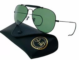 Ray-Ban Aviator Sunglasses RB3030 Outdoorsman L9500 Black Fr
