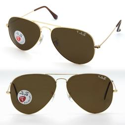 58mm Rayban aviator sunglasses for women, men brown POLARIZE