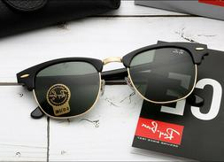 Ray-Ban Clubmaster Sunglasses RB3016 W0365 G-15 Lens 51mm Bl