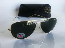 Ray-Ban Polarized Aviator Sunglasses RB 3025  001/58  62/14
