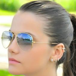 RAY BAN RB3025 58/14 AVIATOR Sunglasses GRAY GRADIENT Lens,