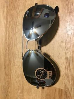 Ray-Ban RB3025 Silver Aviator Mirror Silver Frame Sunglasses