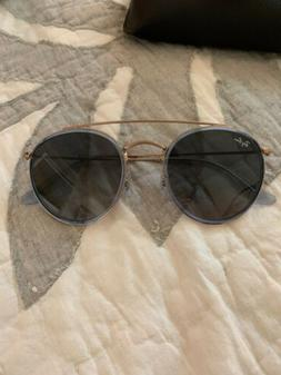 Ray Ban sunglasses Authentic Womens Gold Frames  Aviator Blu