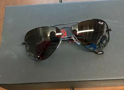 ray ban sunglasses Junior all black aviation in box and case