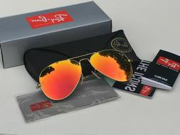 Ray Ban RB 3025 Aviator Large Metal Sunglasses 112/69 Gold