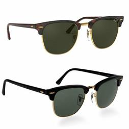 Ray-Ban RB3016 Classic Clubmaster Sunglasses Color & Size Va