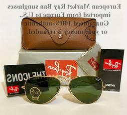 Ray-Ban® RB3025 58 Aviator Large Sunglasses