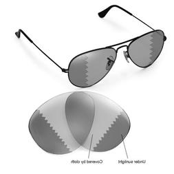 Walleva Replacement Lenses for Ray-Ban RB3025 Aviator Large