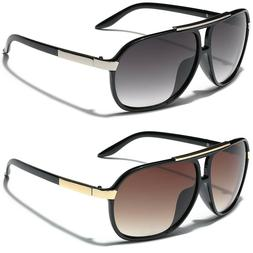 Retro 80s Fashion Aviator Sunglasses Black White Brown Men W