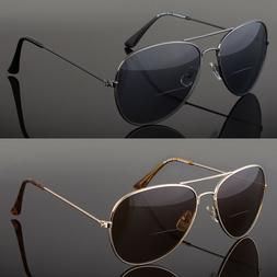 Retro Men Aviator Bifocal Tinted Sun Reader Reading Sunglass