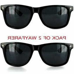 MJ Boutique's Pack of 2 Black Sunglasses Dark Lens